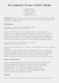 Science Resume Cover Letter Environmental Sample Entry Level Resumes