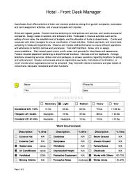 An employee self evaluation is an opportunity for staff to think about their career—not their job. Hotel Evaluation Form Fill Online Printable Fillable Blank Pdffiller