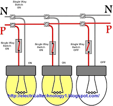 wiring a light switch how to control each lamp by separately wiring lights in parallel with one switch diagram at Wiring Recessed Lights In Parallel Diagram Power At Light
