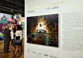 chicano art at the museum of latin american art pearmama chicano landscapes molaa 1