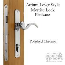 door lock hardware. Atrium Door Hardware Mortise Lock - Polished Chrome E