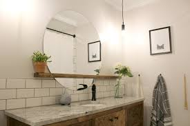 modern round bathroom mirror. Unique Mirror Unique Round Bathroom Mirror With Shelf Remodelaholic How To Make A Modern  Sunrise Floating In O