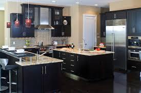 dark wood kitchen cabinets. Interesting Dark Lovely Contemporary Dark Wood Kitchen Cabinets A  Featuring Cherry With Throughout O