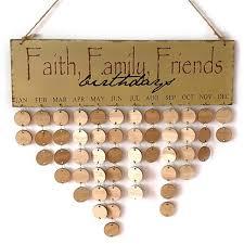 Birthday Anniversary Calendar Diy Family Friends Birthday Anniversary Calendar Retro Signature