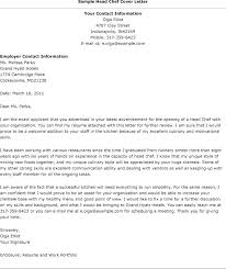 Chef Cover Letters Chef Cover Letters Bunch Ideas Of Cute How To