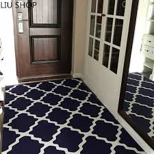 liu nordic plaid carpet living room hallway coffee table bedroom entrance mat bathroom rectangle rug customized