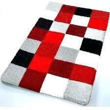 red bathroom rugs for brick bath cherry