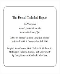 Technical Report Template Extraordinary 48 Sample Technical Reports PDF Word Sample Templates