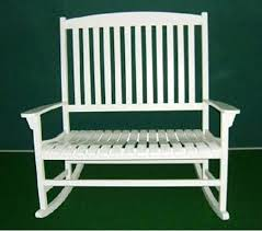 white slat rocking chair white porch