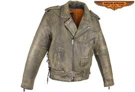 dream apparel men s brown motorcycle jacket with pockets