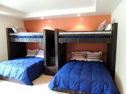 custom bunk beds rustic perpendicular designer loft with queen