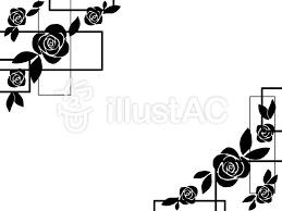 黒バラフレームイラスト No 1362098無料イラストならイラストac