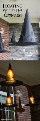 DIY Floating Witch Hat Luminaries