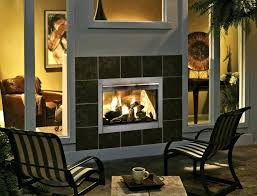 indoor outdoor fireplace double sided wood burning see through design