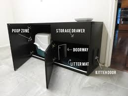 pleasing cat litter box furniture also diy cat box cabinet evanandkatelyn absolute must do diy i cat litter box covers furniture
