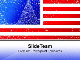 American Flag Powerpoint American Flag Christmas Powerpoint Templates Ppt Themes And