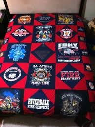 Custom Memory Quilt / T-shirt Quilt / Baby by Hearttoheartquilts ... & firefighter t-shirt quilt | firefighter tshirt quilt ~ made from well loved  shirts ~ Adamdwight.com