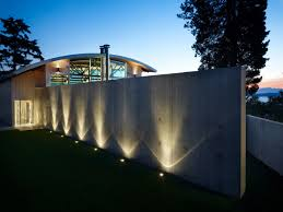 spectacular lighting. Lighting, Exposed Concrete Wall, West Seattle Residence With Spectacular Inlet Views Lighting