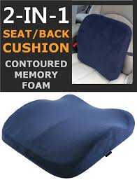 Memory Foam Seat Lumbar Pain Support Booster Car Cushion Chair