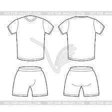 Shorts Design Template T Shirt And Shorts Template For Design Sample For Vector