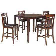 signature design by ashley bennox 5 piece dining room counter table set item number