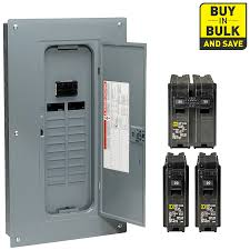 shop circuit breakers load centers fuses at lowes com square d 40 circuit 20 space 100 amp main breaker load center