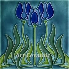 6X6 Decorative Ceramic Tile Art Nouveau Ceramic decorative wall tile 600 X 600 Inches 60 28