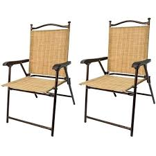 outdoor sling chairs. Outdoor Sling Chair Slingback Patio Chairs With Ottoman La Aluminum Furniture Back Folding Resistant Set Of I