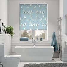 bathroom blinds. splash gulls seaside blue roller blind bathroom blinds