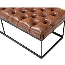 eichholtz york bench  tobacco leather  houseology
