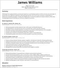 Cover Letters For Dental Assistant Dentist Resume Sample Dental Assistant Resume No Experience Related