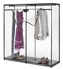 ... Wardrobe Racks, Portable Closet Plastic | Roselawnlutheran With Regard  To Covered Garment Rack: astonishing ...