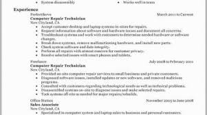 Field Service Technician Resume Examples Free Download
