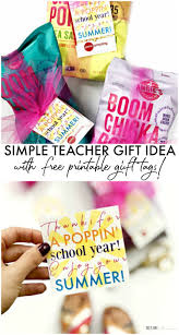 Summer Gift Tags Simple Teacher Gift Idea With Free Printable Gift Tags