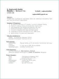 Database Testing Resumes Manual Testing Sample Resumes Manual Tester Sample Resume Testing