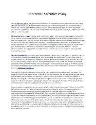 Personal Narrative Essay Example High School How To Start A Personal Essay About Yourself Narrative Examples High