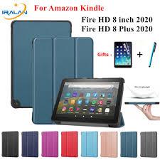 Trường Hợp Đối Với Amazon Kindle Fire Hd 8 Bao Da Đứng Mỏng Từ Tính Ốp Lưng  Cho Máy Tính Bảng Kindle Fire Hd 8 Plus