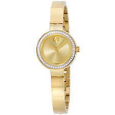 movado ladies watches new used luxury vintage movado bold gold dial yellow gold plated ladies watch 3600322