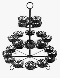 black carousel cupcake stand