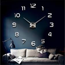 diy large number 3d wall clock crystal mirror sticker home room office decor 1 of 11free see more