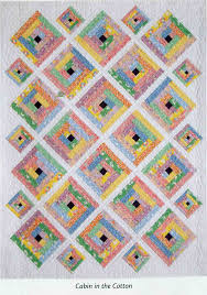 BLOCK HEAD: Vol 2 - Project 5 - Cabin in the Cotton - Julie's Quilt & Its a very pretty quilt and I really like the 1930's prints used here. This  quilt is a lesson in adding sashing between the blocks - something not  tackled ... Adamdwight.com