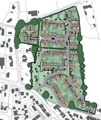 this is the layout of the 99 home development that charles church wants to build on carpenter s field denmead the site lies between anmore road