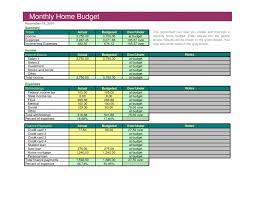 Home Budget Planning Software 026 20simple Monthly Home Budget Spreadsheet Household Excel