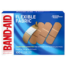 Band Aid Size Chart Band Aid Flexible Fabric Adhesive Bandages One Size All One Size 1 Inch