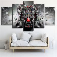 canvas printed poster rock music instruments dj console guitar art 5 panel wall painting home decor pop art pictures modular on rock wall art uk with shop dj wall art uk dj wall art free delivery to uk dhgate uk