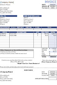 Remittance Invoice Template