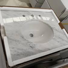 natrual granite prefab vanity top bianco carrara