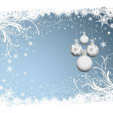 blue and white christmas background. Contemporary Blue Christmas Background With White Baubles Free Vector In Blue And White Background W