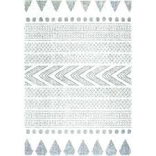 black and white aztec print rug tribal rugs grey 4 ft x 6 area black and white aztec rug