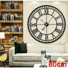 roman numeral black wall clock